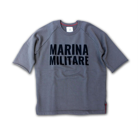HALF SLEEVE PRINT SWEAT SHIRT MARINA MILITARE ARMY GREEN