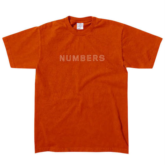 NUMBERS edition -OUTLINE WORDMARK-S/S T-SHIR