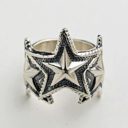 Ring 3 Interlocking Star