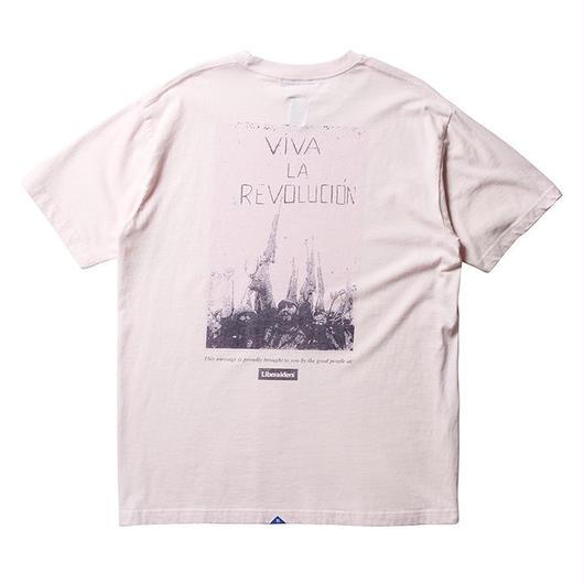 LIBERAIDERS - VIVA LA REVOLUCION TEE  (ピンク)