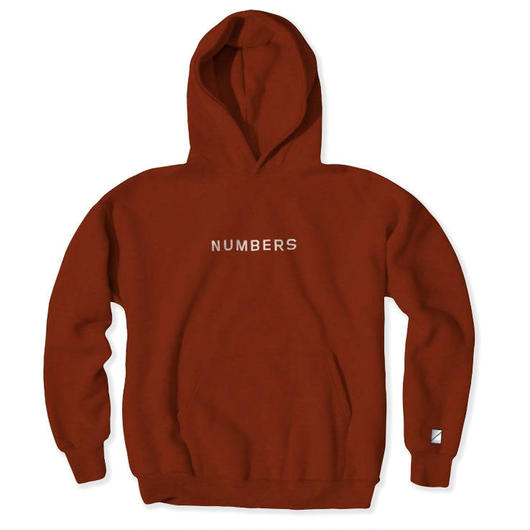 NUMBERS edition - EMBROIDERED WORDMARK FLEECE PULLOVER