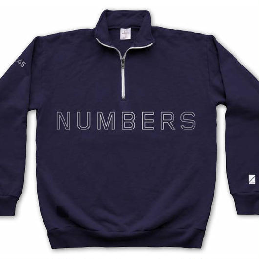 NUMBERS edition -OUTLINE WORDMARK 1/4 ZIP FLEECE PULLOVER