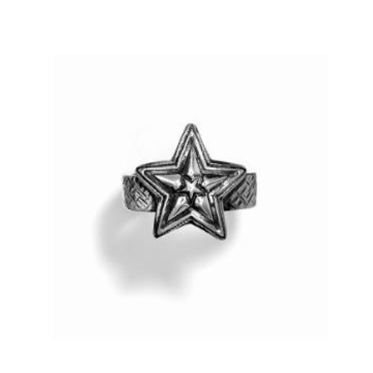 Ring Tiny Star In Star w/Cat Scratch