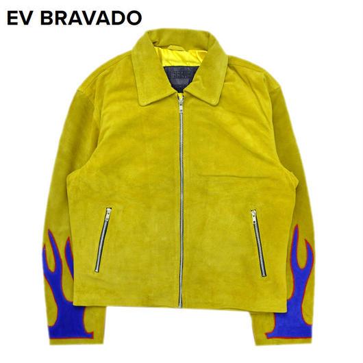 EV BRAVADO - スウェードジャケット REBIRTH ETERNAL FLAME TRUCKER / YELLOW