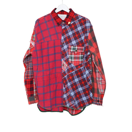 【SALE】Re-make nel check shirts