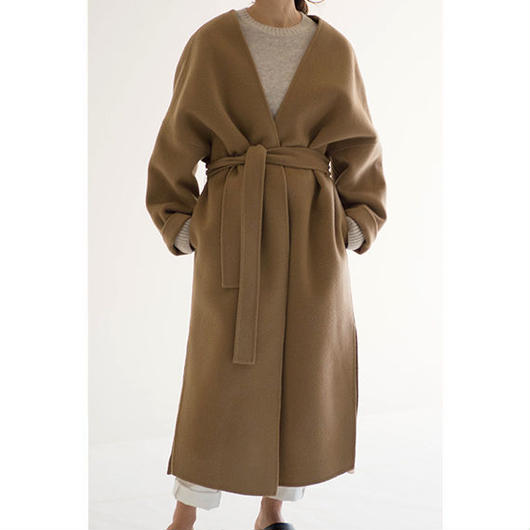 No-Collar Gown Coat