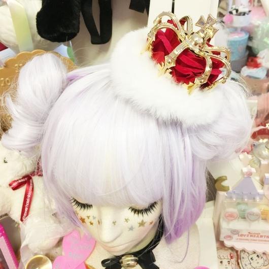 薔薇の王冠ヘアピン