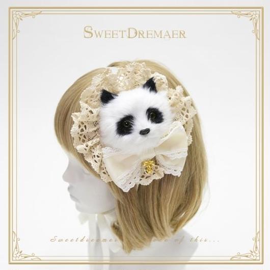 パンダさんコサージュヘッドドレス