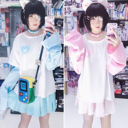【お取り寄せ】リモコン☆超萌え袖うさくまシャツ