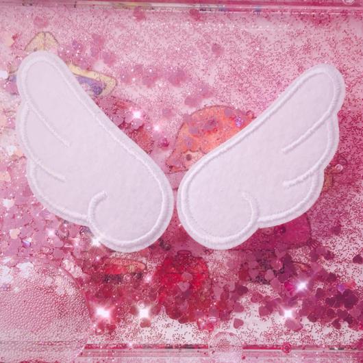 天使の羽根アップリケ