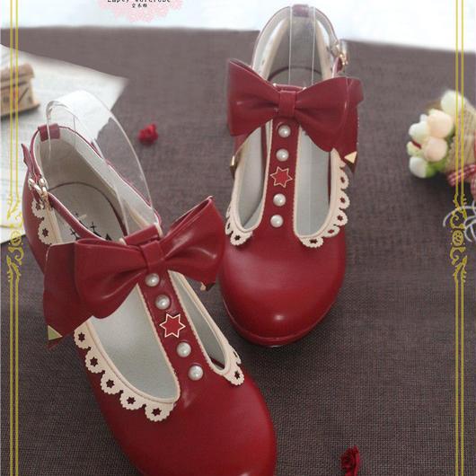 魔法にかかる赤い靴