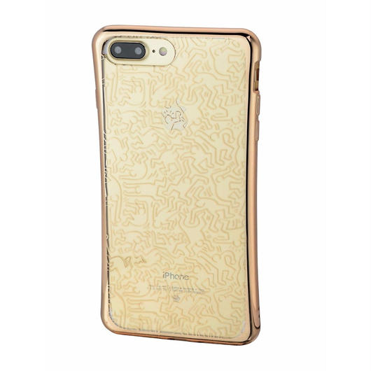 Keith Haring Collection TPU Case for iPhone 7 Plus (People/Metallic Gold)