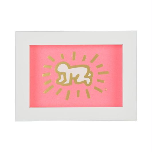 Framed Embossed Postcard  額装ポストカード  箔押し (Radiant Baby)