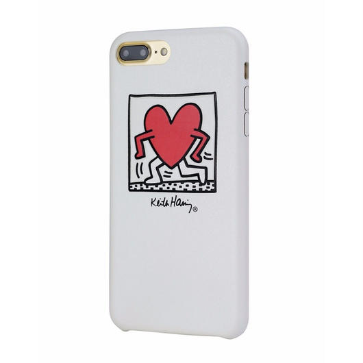 Keith Haring Collection PU Case for iPhone 7 Plus (Running Heart/White)