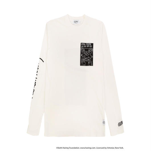 JOYRICH x Keith Haring Patch L/S Tee / WHITE