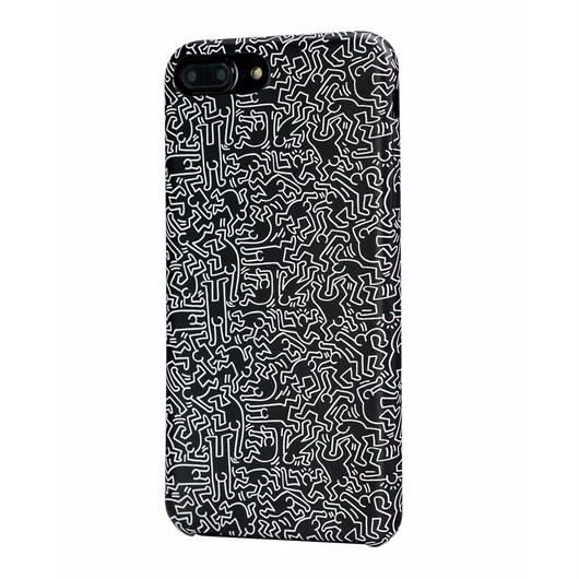 Keith Haring Collection PU Case for iPhone 7 Plus (People/Black × White)