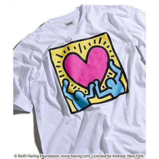 Keith Haring × NOUNO Big T-Shirt(White/Heart) キース・ヘリング ビッグシルエットTシャツ