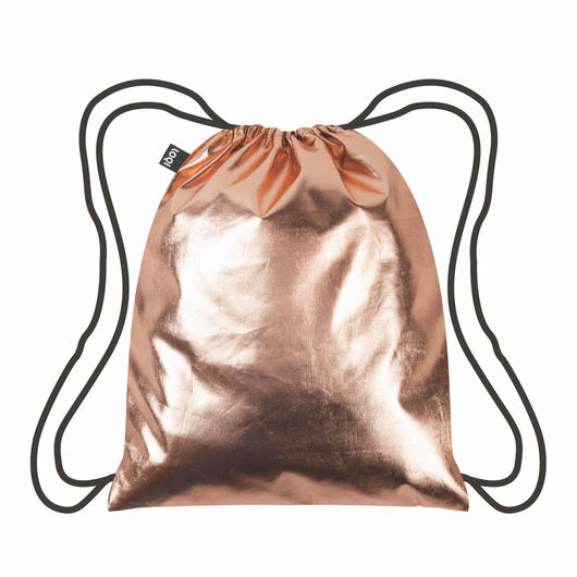 LOQI  Metallic Rose Gold BackPacks