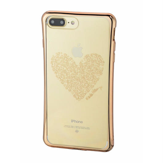 Keith Haring Collection TPU Case for iPhone 7 Plus (Heart/Metallic Gold)