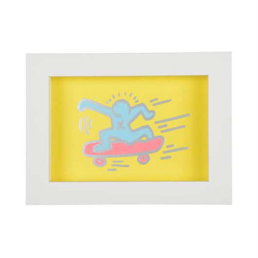 Framed Embossed Postcard  額装ポストカード  箔押し (Skater)