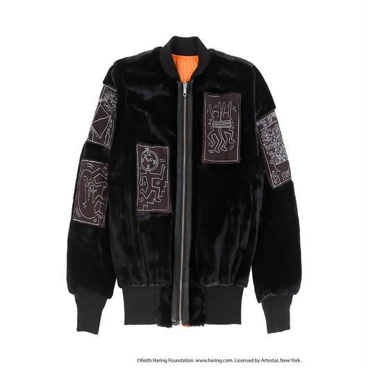 JOYRICH x Keith Haring Reversible Bomber / BLACK / ORANGE