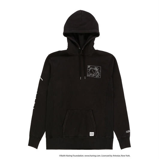 JOYRICH x Keith Haring Patch Hoodie / BLACK