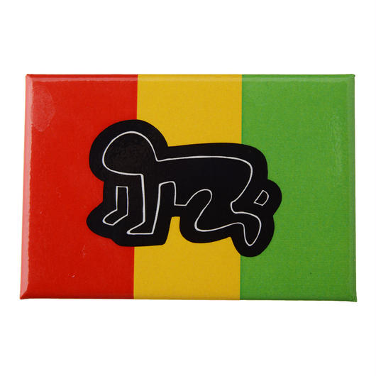 POP SHOP Keith Haring Baby Rasta Button