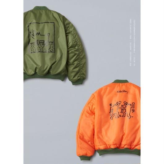 FOSTEX GARMENTS × Keith Haring MA-1 Jacket Olive