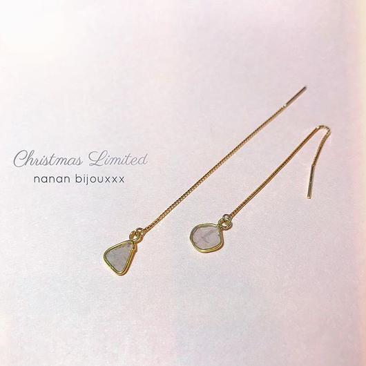 【受注商品】K18 Diamond pierce (set)