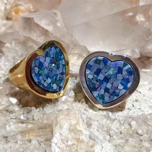 【受注商品】Heart opal ring