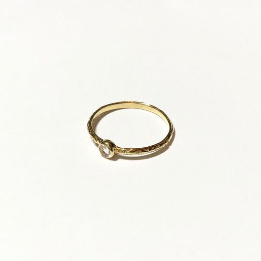 【受注商品】Birthday stone pattern ring (6月/ブルームーンストーン)