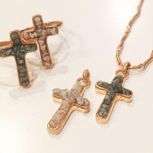 Diamond cross charm