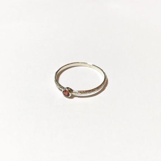 【受注商品】Birthday stone pattern ring (1月/ガーネット)