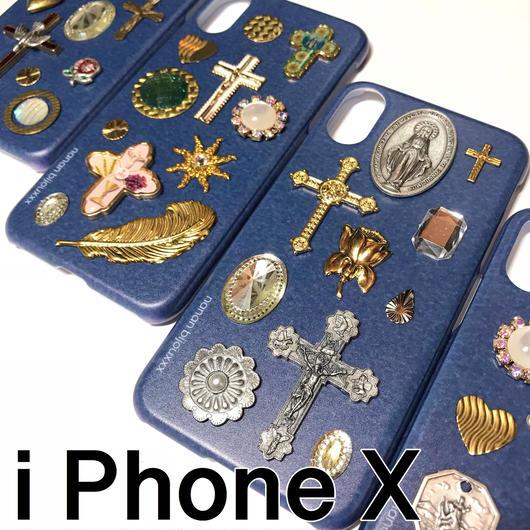 iPhone case X size 〈Navy〉
