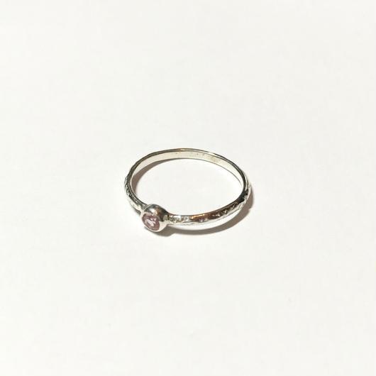 【受注商品】Birthday stone pattern ring (10月/ピンクトルマリン)