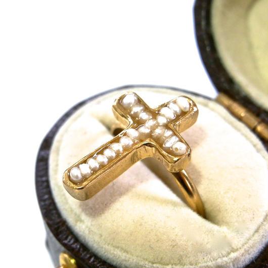 Pearl cross ring