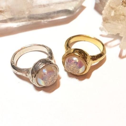 【受注商品】Aurora druzy ring <white>