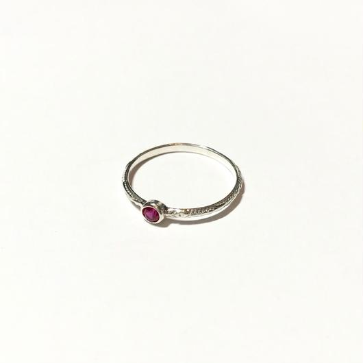 【受注商品】Birthday stone pattern ring (7月/ルビー)