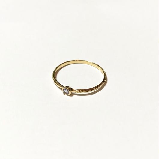 【受注商品】Birthday stone pattern ring (12月/タンザナイト)