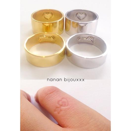 Stamp ring/Heart