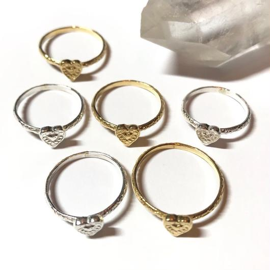【受注商品】Tiny heart ring
