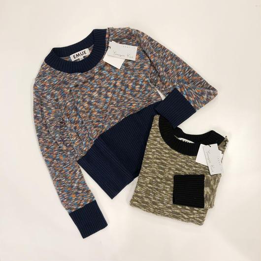 EMUE  Yamagata knit ショートプルオーバー