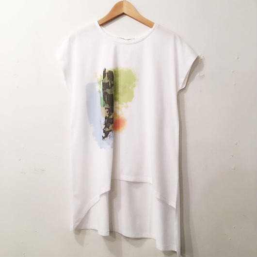 style zampa アシンメトリーロングTシャツ
