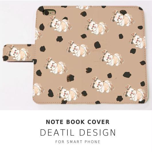 NEW! 手帳型スマホケース  DOG DOG LOVE!CAMEL