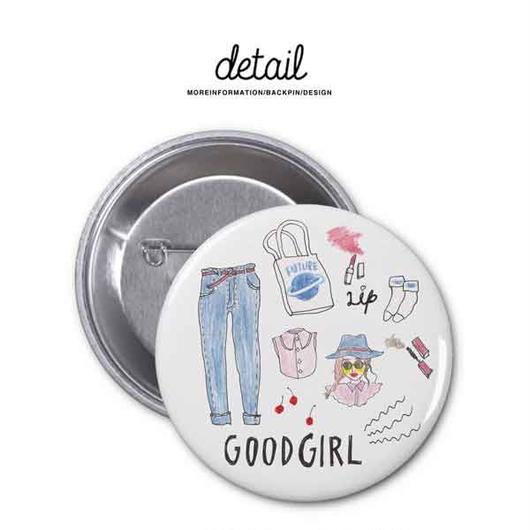 NEW  /  缶バッチ  /  GOODGIRL  /  57mm