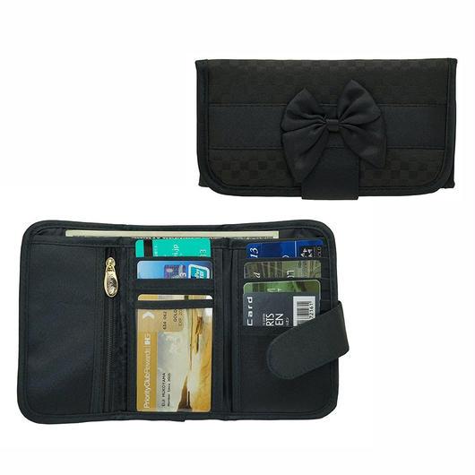 ナラヤ(NaRaYa) 三つ折財布(スリムタイプ・ファスナー付小銭入れ付)・ミニチェック柄(ブラック) NBCS-268A