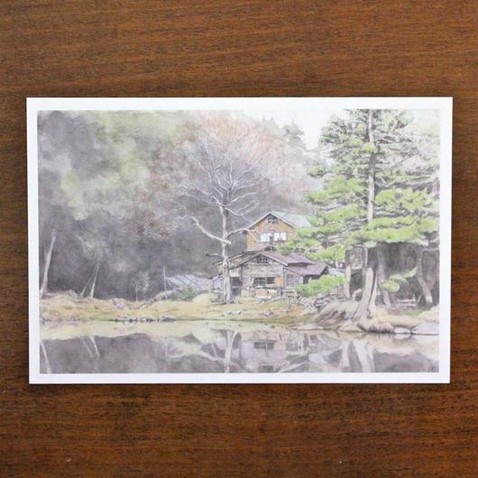 しらびそ小屋の秋(ポストカード)