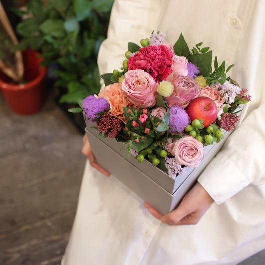 ハピネスフラワーボックス  秋田市外・全国配達  2019母の日ギフト