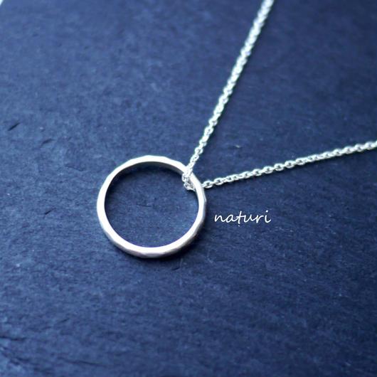 【tronc】sv925 hammered nacklace