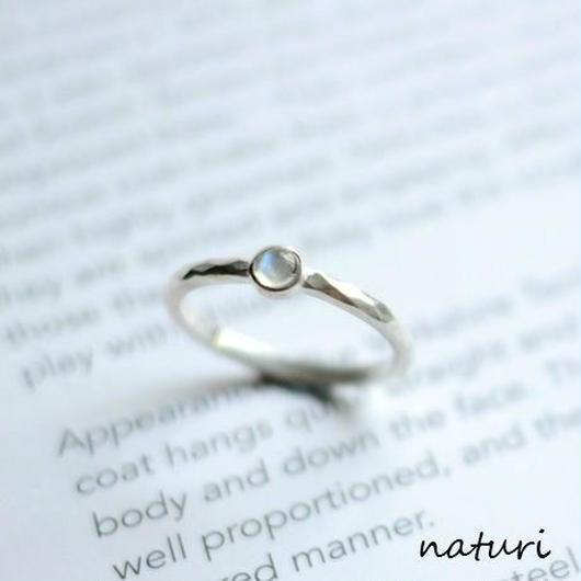 【tronc】sv925 blue moon stone ring
